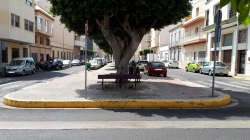 Parada de autobús en Melilla