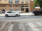 Vía cortada en la calle Castilla