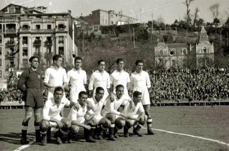 Real Madrid en 1944, partido con la Real Sociedad