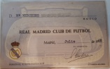 Carnet socia Real Madrid, 1968