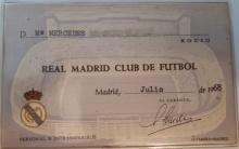 Carnet socia Real Madrid, 1968