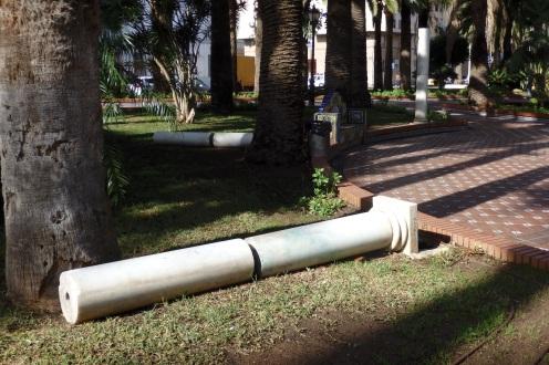 Columnas derribdas