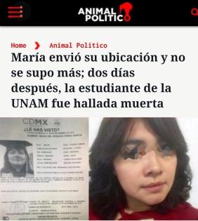 María, desaparecida