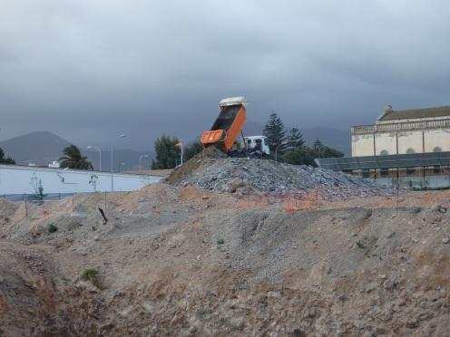 Montaña de escombros