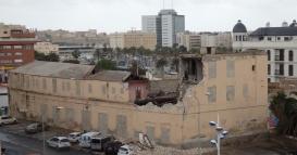 Calle Antonio Díez, edificio derrumbado