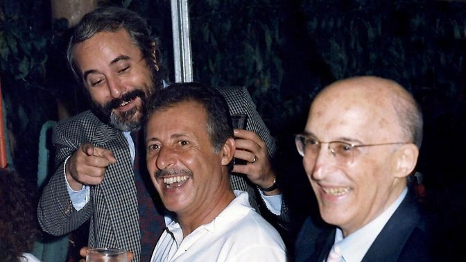 Falcone, Borsellino y Antonino Caponnetto