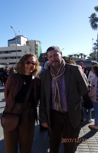 Gloria Rojas y Mustafa Aberchán