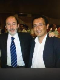 Dionisio Muñoz y Alfredo Pérez Rubalcaba
