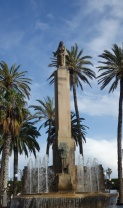 Victoria alada, Plaza de España