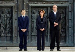 La Ministra de Justicia en el Valle de los Caídos