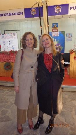 Gloria Rojas y Elena Fernández