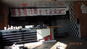 Burger King, Interior destrozado