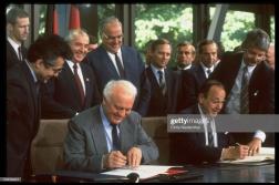 Renificación alemana, Kohl y Gorbachov (Getty images)