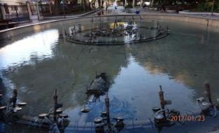 Fuente inactiva, parque Hernández
