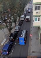 Desfile de coches policiales
