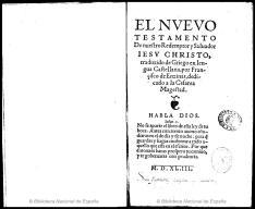 Nuevo Testamento, Francisco de Enzinas