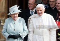 Benedicto XVI e Isabel II de Inglaterra (Getty images)