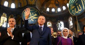 Recep Erdogan en Santa Sofía