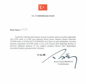 Decreto del Consejo de Estado de Turquía